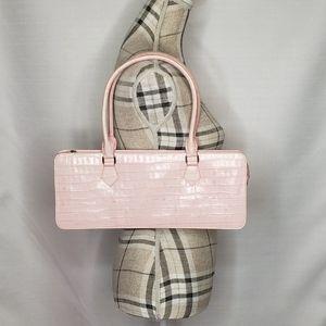Sondra Roberts Croc Embossed Handbag Pink Purse